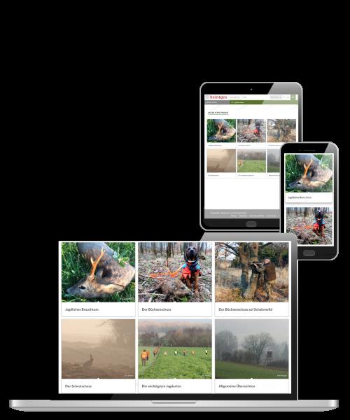 Digitale Arbeitsblätter Jagdliche Praxis